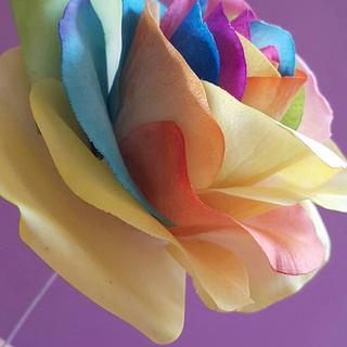 Gumpaste Rainbow Rose