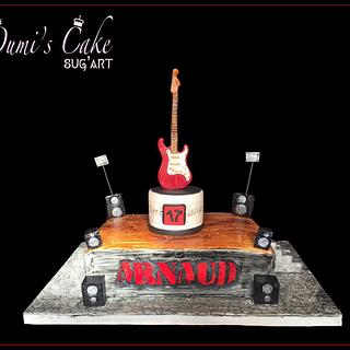 Electric Guitar 🎸 Cake