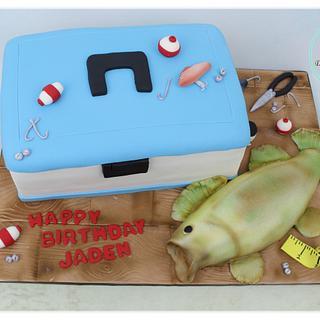Tacklebox fishing cake
