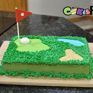 Golf Grooms cake - Cake by Cakes For Fun