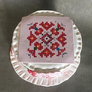 Traditional Bulgarian  Embroidery cake