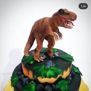 dinosaur cake - Cake by Laura Reyes