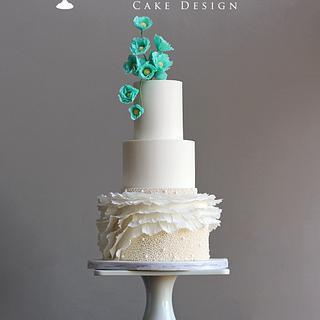 Elegant Sugar Flower Wedding Cake