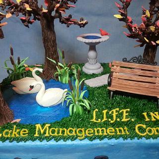 Landscape Sheet Cake - Cake by Custom Cakes by Ann Marie