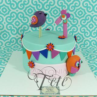"CAKE ""BIRDS AND OWLS"""
