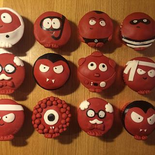 Fun Red Nose Day Cupcakes