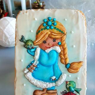 Snowflake with birds - Cake by Suzi Suzka