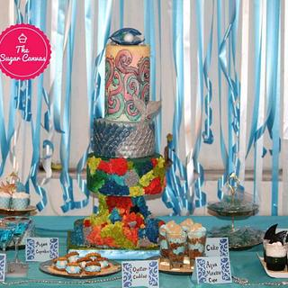 PDCA  Dessert Table Collaboration - Theme AQUA