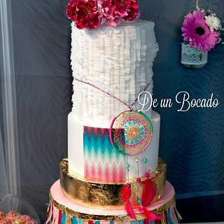 Boho Chic wedding cake - Cake by Carmen