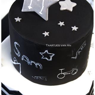 Chalkboard birthdaycake