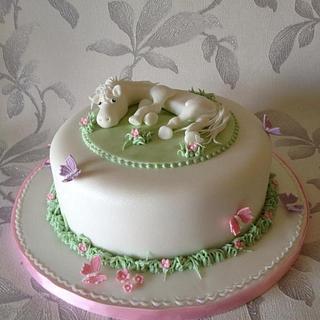 Pretty horse cake