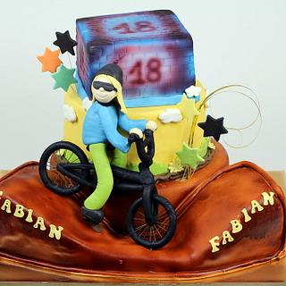 18th Birthday Cake for BMX Rider