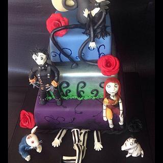 Nightmare Before Christmas Tim Burton cake - Cake by Emmazing Bakes