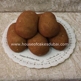 Potatoes shaped cake
