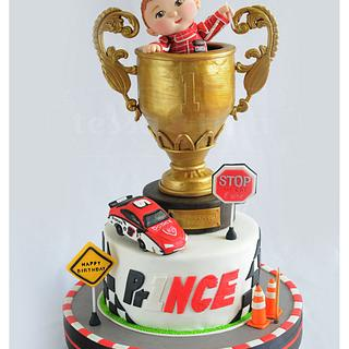 Trophy Car Race Cake