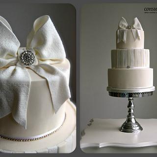 Sugar Bow Wedding Cake