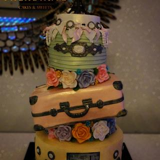Suitcase cakes