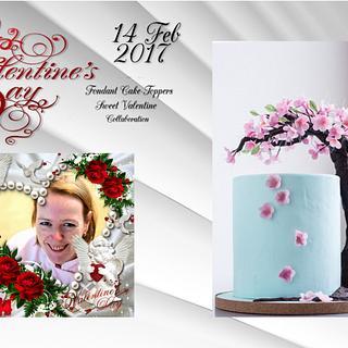 "Sweet Valentine Collaboration piece ""Cherry Blossom"""
