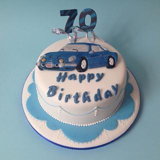 Alpine Sports car - Cake by Rachel Bosley