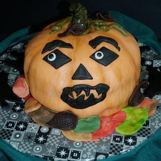 Thanksgiving Jack O Lantern Cake