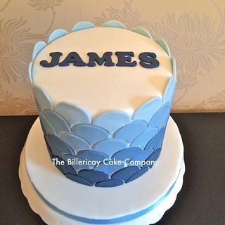 ombre blue mens cake