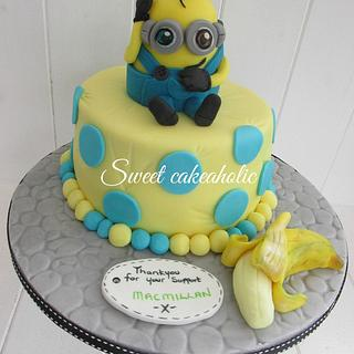Macmillan Minion - Cake by SweetCakeaholic1