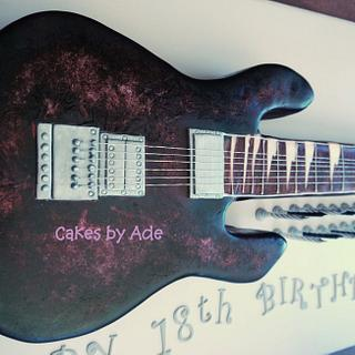 Guitar Cake - 18th Birthday, June 2013 - Cake by Cakes by Ade
