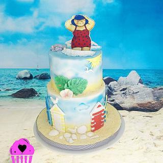 Seaside birthday cake