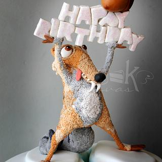 Scrat catches his acorn at last for Baby Norah.. or did he ? :)