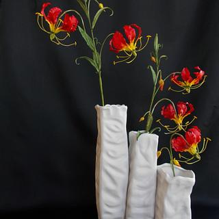 flame lily (sugar flowers)