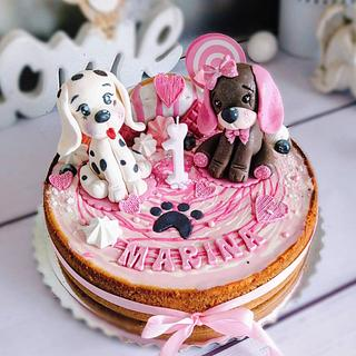 Dogs cheesecake