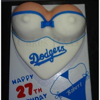Enjoyable Dodgers 6 Cakes Cakesdecor Funny Birthday Cards Online Benoljebrpdamsfinfo