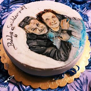 Painted cake - Cake by EmyCakeDesign