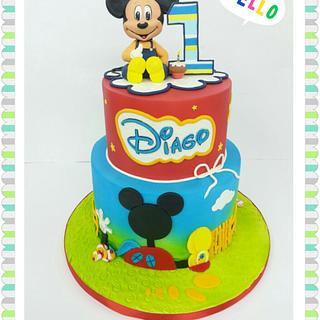 Mickey mouse cake - Cake by ROCIO ( Mis dulces dias )