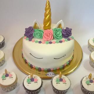 Torta y Cupcakes Unicornio / Unicorn Cake & Cupcakes