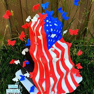 Fluttering Flag - Cake by Danielle Vega