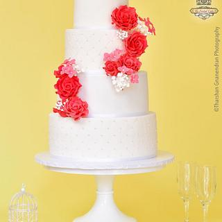 {Blossomed Beauty} Wedding Cake