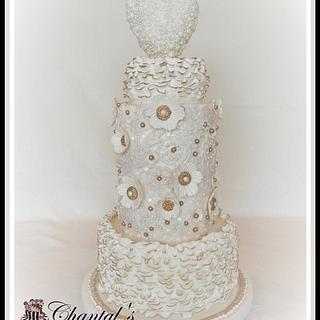 Ruffles, Lace & Jewels - Cake by Chantal Fairbourn