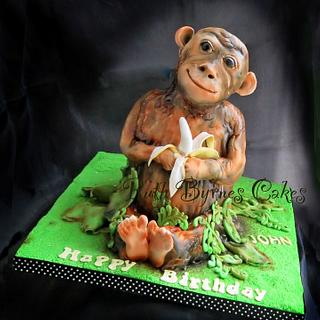 Monkey cake for my brother - Cake by Ruth Byrnes