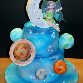 Little fairy in space - Cake by WhenEffieDecidedToBake