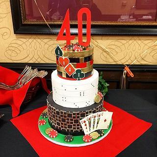 Casino Birthday Cake