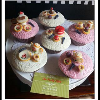 High tea toppers cupcakes