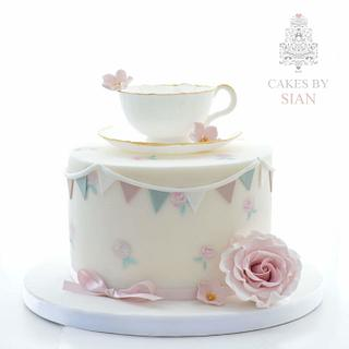 Edible Teacup cake