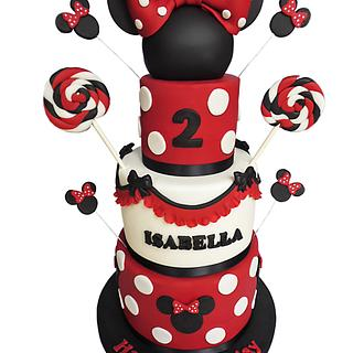 Minnie Mouse cake - Cake by Vanilla Iced