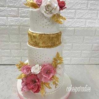 wedding cake  - Cake by cakesparadise2012