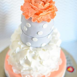 50 shades of grey ruffled themed cake