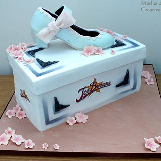 Shoe on Box Cake - Cake by Mother and Me Creative Cakes