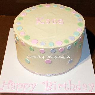 Polka Dot Cake with a suprise inside too :)