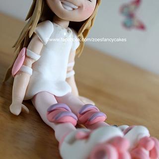 Rollerskate girl 1 - Cake by Zoe's Fancy Cakes