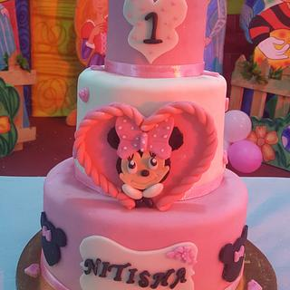Minney mouse cake